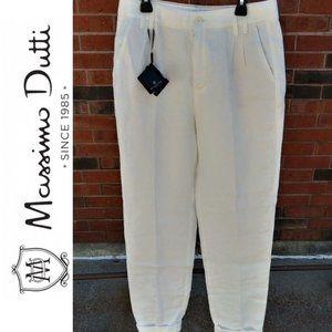 Massimo Dutti Pants & Jumpsuits - Massimo Dutti Ivory 100% Linen Trouser Pants